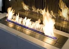 chimenea bioetanol suelo barata de acero inoxidable