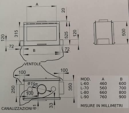 planos de chimenea de leña pdf L 80 de doble cara color blanco remoto programable
