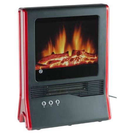 Chimenea electrica decorativa sin ruido ni humo con termostato electrónico y consumo moderado